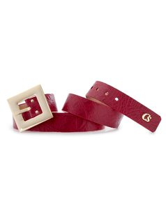 BELT WITH SMOOTH BUCKLE front