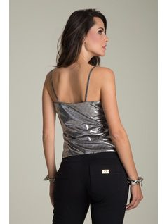METALLIC TANK TOP