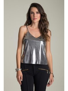 METALLIC TANK TOP front