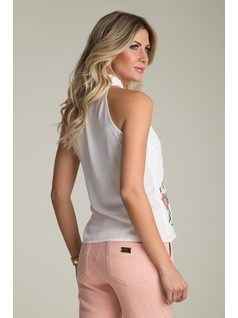BACKLESS BLOUSE WITH EMBROIDERY