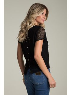 MESH T-SHIRT WITH EMBROIDERY back