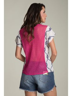 SHORT-SLEEVE PRINTED BLOUSE back