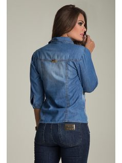 JEAN SHIRT WITH EMBROIDERY back
