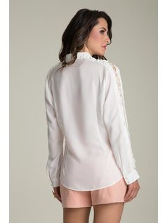 LONG-SLEEVE SHIRT WITH LACE back