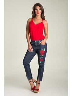 SKINNY PANTS WITH EMBROIDERY front