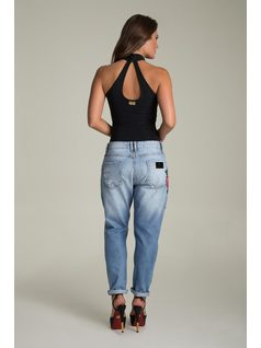 BOYFRIEND PANTS WITH EMBROIDERY back