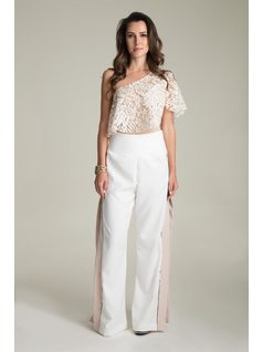 PANTALOON PANTS WITH SIDE OPENING front