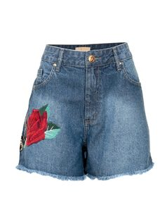 JEAN SHORTS WITH EMBROIDERY