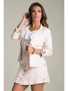 BLAZER WITH PRINTED LINING front