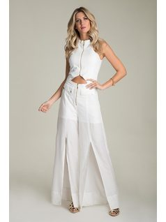 LONG OVERALLS WITH ZIPPER front