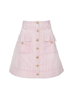 STRIPED SKIRT WITH BUTTONS