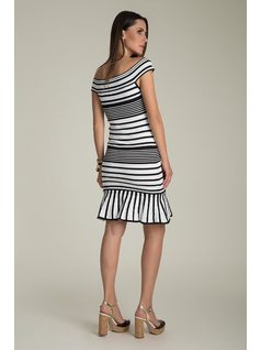 B&W KNIT DRESS back