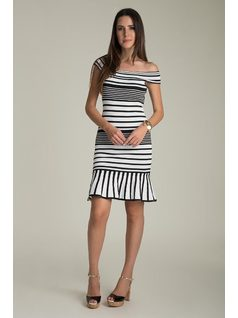 B&W KNIT DRESS front
