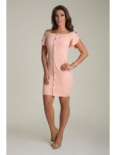 DRESS WITH BUTTONS front