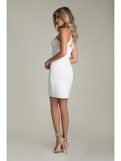 DRESS WITH BRAIDED STRAPS back