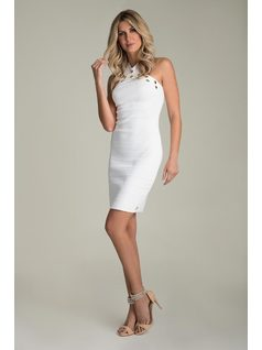 DRESS WITH BRAIDED STRAPS front