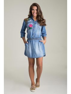EMBROIDERed CHEMISE Jeans front
