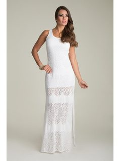 LONG KNIT DRESS front