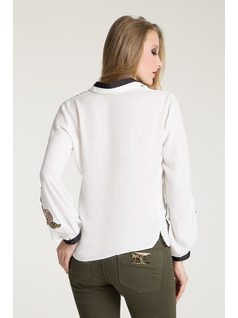 GROSGRAIN BLOUSE WITH PATCHES back