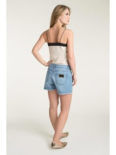 ASYMMETRIC SHORTS WITH EYELETS back