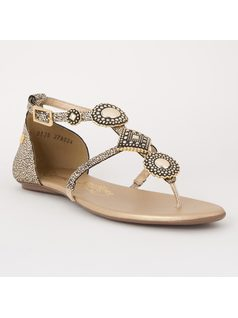 FLAT SANDAL WITH METALS