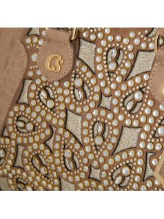 HANDBAG WITH CRYSTAL APPLIQUES back