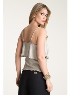 BLOUSE STRAP WITH FLOUNCE back