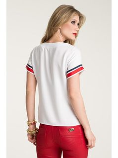 T-SHIRT WITH DETAILS AND EMBROIDERY back
