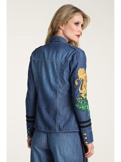 JEANS SHIRT WITH EMBROIDERY back