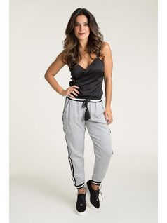 PAJAMA PANTS WITH PRINTED LINING front