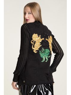 DESTROYED EMBROIDERED VEST