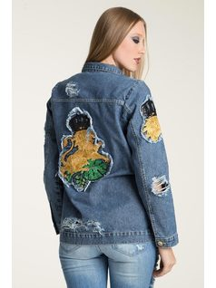 JACKET WITH PATCHES back