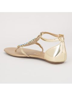 FLAT SANDAL WITH EMBROIDERY back