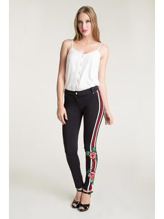 SKINNY TROUSERS WITH ELASTANE front
