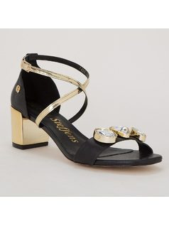 SANDAL WITH RHINESTONES front