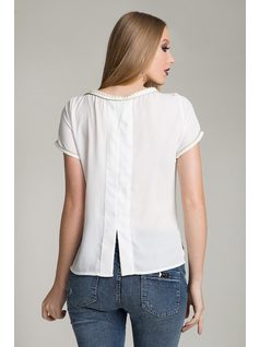 T-SHIRT WITH PEARL AND PATCH back