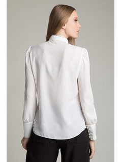 SHIRT WITH PEARL BUTTONS back