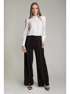 PANTALOON WITH PEARLS front