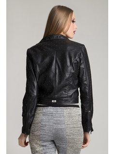 LEATHER JACKET WITH METALS back