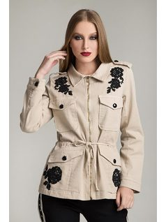 PARKA JACKET WITH PATCH front