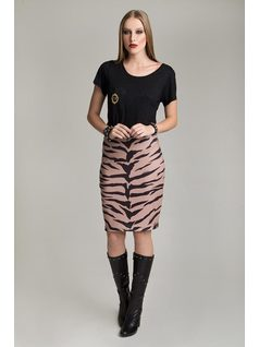 BASIC PRINTED SKIRT front
