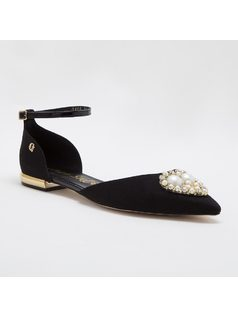 SLIP-ON WITH PEARLS front