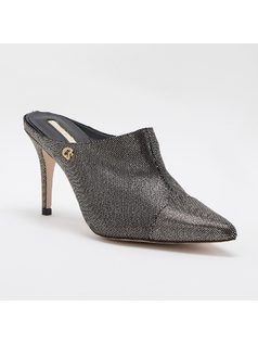 MULE STYLE PUMP WITH PERSONALIZED METAL front