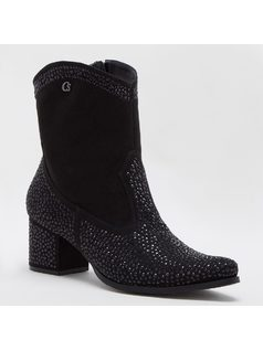 ANKLE BOOT WITH CRYSTALS front
