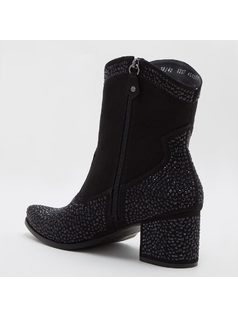 ANKLE BOOT WITH CRYSTALS back