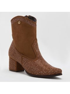 ANKLE BOOT WITH CRYSTALS