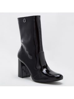 PATENT LEATHER MID-TOP BOOT