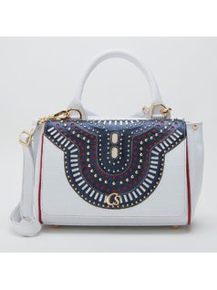 Handbag with studding front