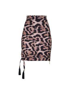 Printed assimetric skirt