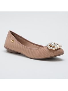 BALLERINA SLIPPER WITH CRYSTALS front